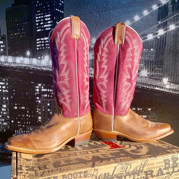 Justin Boots Shoes - Justin Bent Rail boots woman's size 7 1/2 B